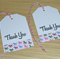 Set 12 Thank you tags - pink rocking horse