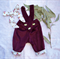 Baby girls overalls, girls overalls size 1, Vintage inspired cord overalls