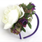 Spring Racing Floral Headband, Fascinator -Purple Roses, White Peony & Berries