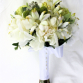 Native Bridal Bouquet with Peonies, Waratahs, Flannel Flowers, Eucalyptus Gum
