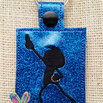 Dancing Boy Embroidered Key Ring / Bag Tag