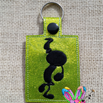Dancing Girl Embroidered Key Ring / Bag Tag