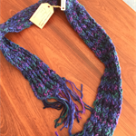 "HAND KNIT Scarf - 100% Wool - ""Child's Play"""
