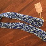 "Hand Knit Scarf - 100% Wool - ""Bertha White"""