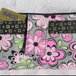 Grey & Pink floral phone purse