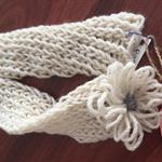 """Hand Knit Scarf - 100% Wool - """"Daisy"""" - RubeyLiza Homewares"""