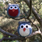 Two Owl Softies | Soft Toy | Gift Idea | Baby | Hand Crochet | Ready to Post