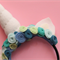 Unicorn Felt Rose Headband: Aqua Blue