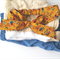 Baby & toddler top-knot headband Mustard flowers headwrap bow