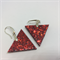 Red Triangle Earrings - FREE POSTAGE