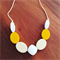Ombré yellow silicone necklace