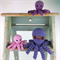Three Octopus Soft Toys |  Amigurumi | Gift Idea | Hand Crochet | Ready to Post
