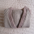 Size 6-12 mths hand knitted cardigan in Camel by CuddleCorner