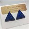 Blue Triangle Stud Earrings  - FREE POSTAGE