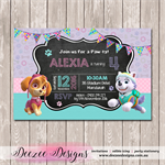 Paw Patrol Personalised Birthday Invitation - YOU PRINT