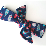 Baby & Toddler Topknot girls headband Navy arrows and feathers