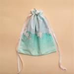 Blue Unicorn Drawstring Bag
