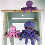 Three Octopus Soft Toys |  Amigurumi | Gift Idea | Hand Crochet | Ready to Post
