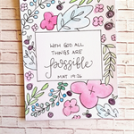 Bible verse encouragement card - all things are possible