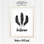 Believe A4 Print