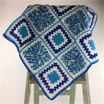 Crochet Baby Blanket | Gift Idea | Pure Wool | Turquoise | Blue | Ready to Post