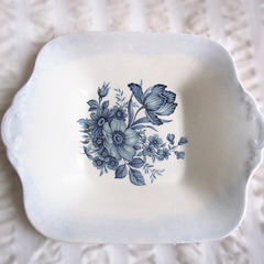 Hand painted and decorated with vintage decal on a wedgwood plate