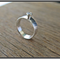 SPARKLE,STERLING SILVER CUBIC ZIRCONIA COCKTAIL RING