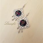 Batik Earring - Batik Jewellery - Black - Filigree - Dangle and Drops - Batik Co