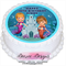 Mermaid Personalised Round Edible Icing Cake Topper - PRE-CUT