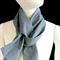 Blue grey scarf made with vintage kimono fabric. Unisex. Cotton/rayon mix