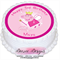 Peppa Pig Personalised Round Edible Icing Cake Topper - PRE-CUT
