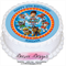 Paw Patrol Personalised Round Edible Icing Cake Topper - PRE-CUT