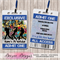 Hip Hop Party Personalised VIP Lanyard Birthday Invitations x 10