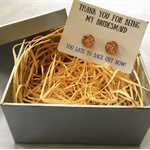 Thank you for being my bridesmaid/maid of honour- Earring Gift Box
