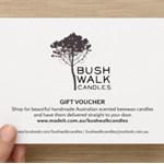 Bushwalk Candles - Gift Voucher - $30.00