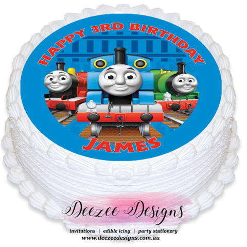 Thomas the Tank Engine Personalised Icing Cake Topper Precut