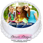 Personalised Round Edible Icing Cake Topper with your own Photo - PRE-CUT
