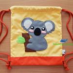 Drawstring Kids Bag / Koala Applique Kids Bag / Kids Backpack / School Bag