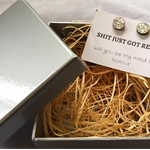 S&*T just got real- Earring Gift Box