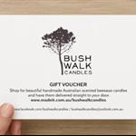 Bushwalk Candles - Gift Voucher - $50.00