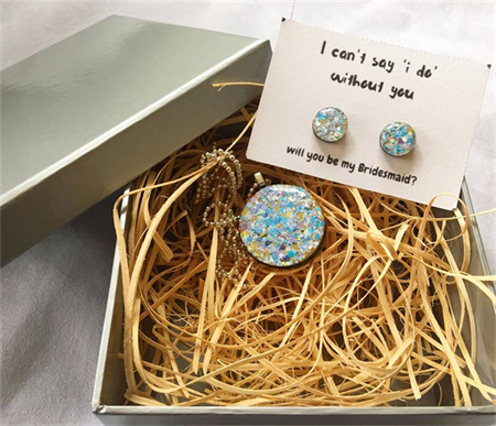 I can't say I DO without you- Earring & Necklace Gift Box