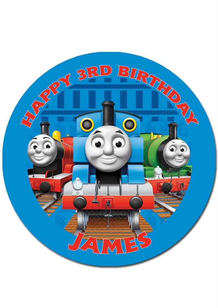 Thomas Tank Engine Personalised Round Edible Icing Cake ...