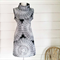 Cowl Neck Dress Black and White Dress Pocket Dress