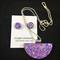 Necklace & Earrings Set - Glitzy Lilac (half moon)