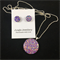 Necklace & Earrings Set - Glitzy Lilac