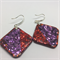 LARGE Sparkly Red & Purple Earrings - FREE POSTAGE