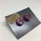 Purple Round Stud Earrings  - FREE POSTAGE