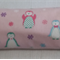 Flannelette wrap / swaddle / receiving blanket, pack of three. Baby girl.