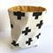 Plus Black  Fabric Storage Basket - Medium