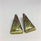 Vintage Japanese Fabric Stud Earrings - FREE POSTAGE